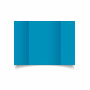 Ocean Blue Card Blanks Double Sided 240gsm-A5-Gatefold
