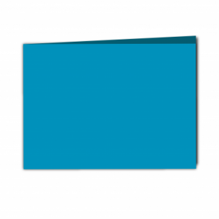 Ocean Blue Card Blanks Double Sided 240gsm-A5-Landscape