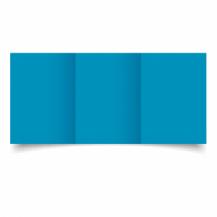 Ocean Blue Card Blanks Double Sided 240gsm-A6-Trifold
