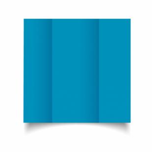 Ocean Blue Card Blanks Double Sided 240gsm-DL-Gatefold