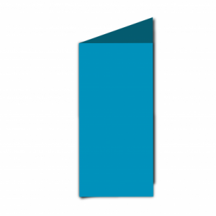 Ocean Blue Card Blanks Double Sided 240gsm-DL-Portrait