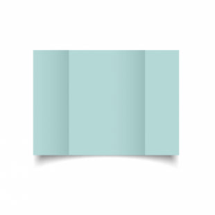 Pale Turquoise Card Blanks Double Sided 240gsm-A5-Gatefold