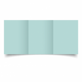 Pale Turquoise Card Blanks Double Sided 240gsm-A6-Trifold