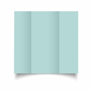 Pale Turquoise Card Blanks Double Sided 240gsm-DL-Gatefold