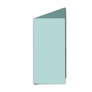 Pale Turquoise Card Blanks Double Sided 240gsm-DL-Portrait