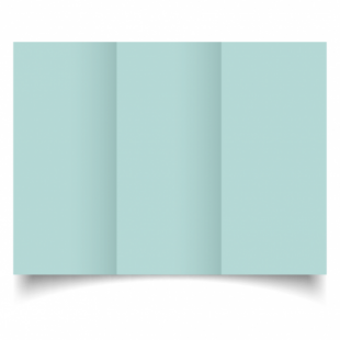 Pale Turquoise Card Blanks Double Sided 240gsm-DL-Trifold