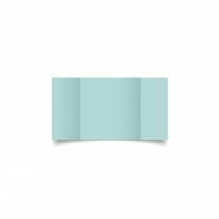 Pale Turquoise Card Blanks Double Sided 240gsm-Small Square-Gatefold
