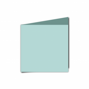 Pale Turquoise Card Blanks Double Sided 240gsm-Small Square-Portrait