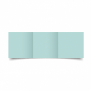 Pale Turquoise Card Blanks Double Sided 240gsm-Small Square-Trifold