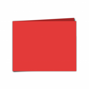 """Red Card Blanks Double sided 290gsm-5""""x7""""-Landscape"""