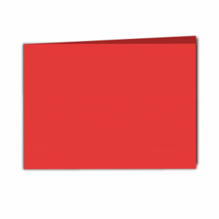 Red Card Blanks Double sided 290gsm-A5-Landscape