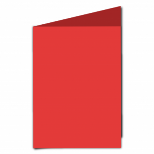 Red Card Blanks Double sided 290gsm-A5-Portrait