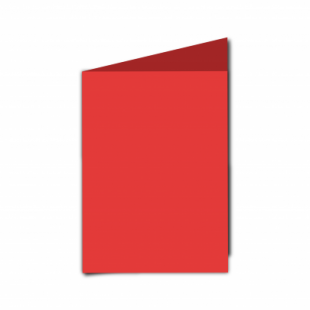 Red Card Blanks Double sided 290gsm-A6-Portrait
