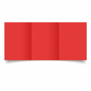 Red Card Blanks Double sided 290gsm-A6-Trifold