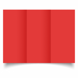 Red Card Blanks Double sided 290gsm-DL-Trifold