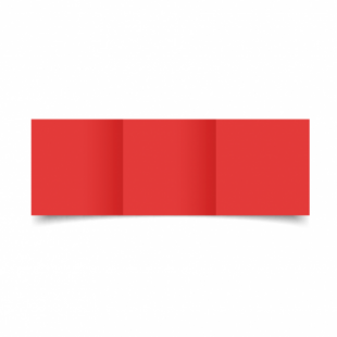 Red Card Blanks Double sided 290gsm-Small Square-Trifold