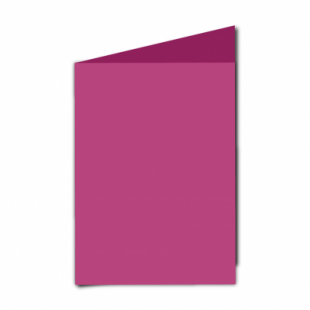 """Raspberry Pink Card Blanks Double Sided 240gsm-5""""x7""""-Portrait"""