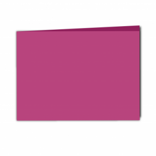 Raspberry Pink Card Blanks Double Sided 240gsm-A5-Landscape