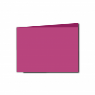 Raspberry Pink Card Blanks Double Sided 240gsm-A6-Landscape
