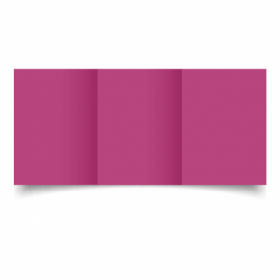 Raspberry Pink Card Blanks Double Sided 240gsm-A6-Trifold