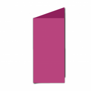 Raspberry Pink Card Blanks Double Sided 240gsm-DL-Portrait