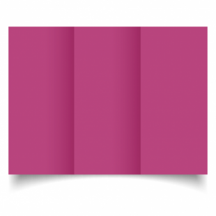 Raspberry Pink Card Blanks Double Sided 240gsm-DL-Trifold