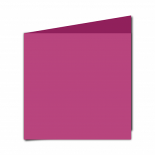 Raspberry Pink Card Blanks Double Sided 240gsm-Large Square-Portrait