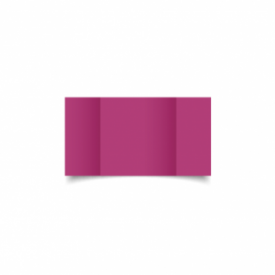 Raspberry Pink Card Blanks Double Sided 240gsm-Small Square-Gatefold