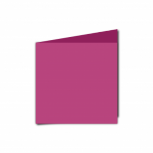 Raspberry Pink Card Blanks Double Sided 240gsm-Small Square-Portrait