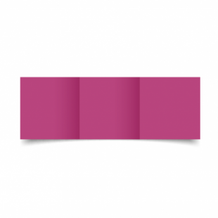 Raspberry Pink Card Blanks Double Sided 240gsm-Small Square-Trifold