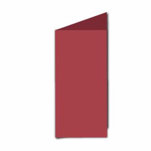 Ruby Red Card Blanks 240gsm-DL-Portrait