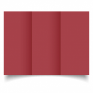 Ruby Red Card Blanks 240gsm-DL-Trifold
