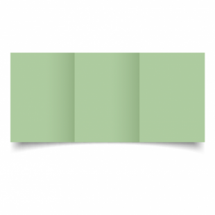 Spring Green Card Blanks Double Sided 240gsm-A6-Trifold