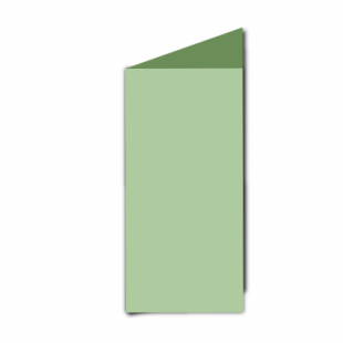 Spring Green Card Blanks Double Sided 240gsm-DL-Portrait