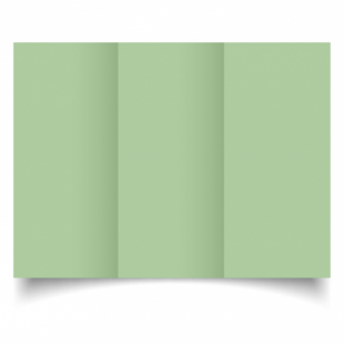 Spring Green Card Blanks Double Sided 240gsm-DL-Trifold