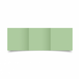 Spring Green Card Blanks Double Sided 240gsm-Small Square-Trifold