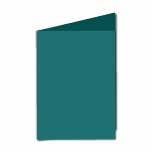 """Teal Card Blanks Double Sided 240gsm-5""""x7""""-Portrait"""