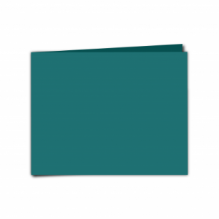 """Teal Card Blanks Double Sided 240gsm-5""""x7""""-Landscape"""