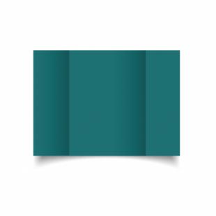 Teal Card Blanks Double Sided 240gsm-A5-Gatefold