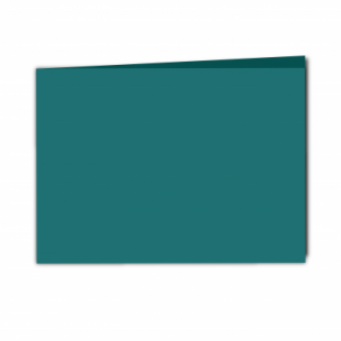 Teal Card Blanks Double Sided 240gsm-A5-Landscape