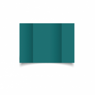 Teal Card Blanks Double Sided 240gsm-A6-Gatefold