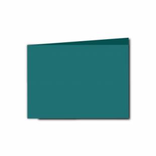 Teal Card Blanks Double Sided 240gsm-A6-Landscape