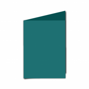Teal Card Blanks Double Sided 240gsm-A6-Portrait