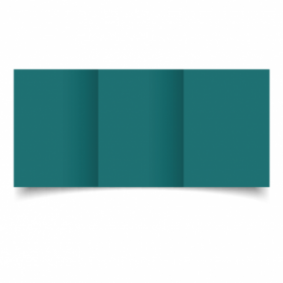Teal Card Blanks Double Sided 240gsm-A6-Trifold