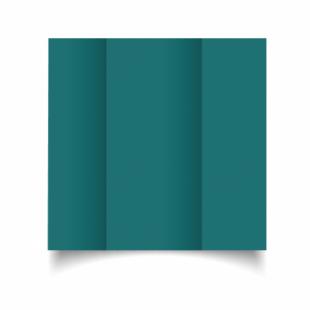 Teal Card Blanks Double Sided 240gsm-DL-Gatefold