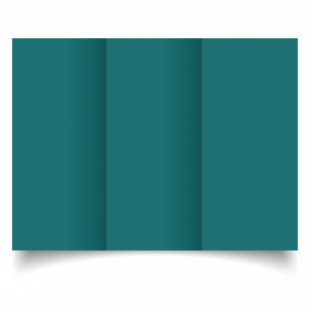 Teal Card Blanks Double Sided 240gsm-DL-Trifold