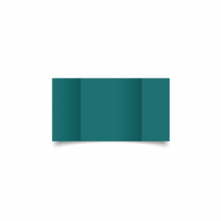 Teal Card Blanks Double Sided 240gsm-Small Square-Gatefold