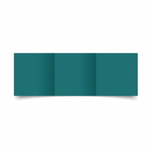 Teal Card Blanks Double Sided 240gsm-Small Square-Trifold