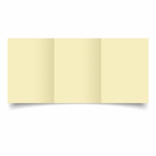 Rich Cream Linen Card Blanks 255gsm-A6-Trifold