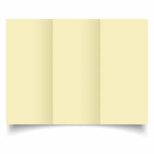 Rich Cream Linen Card Blanks 255gsm-DL-Trifold